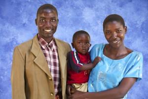 Teacher and Family at Kibidula Farm Institute in Mafinga Tanzania Africa